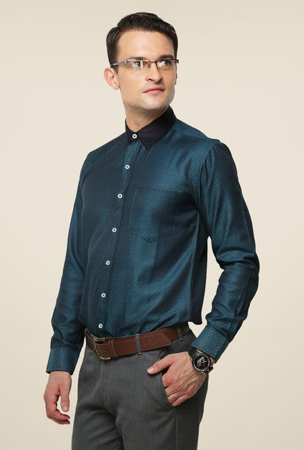 Yepme Green Printed Hanfred Premium Shirt