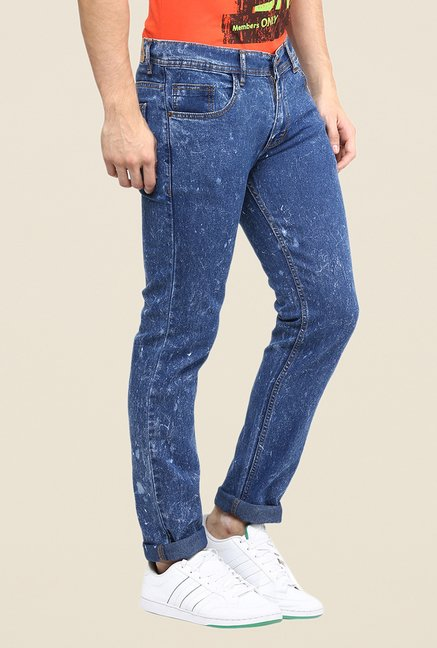 Yepme Blue Acid Wash Jeans