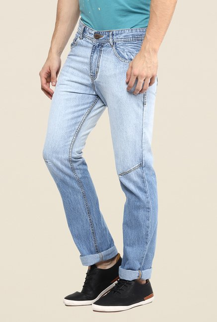 Yepme Blue Heavy Washed Jeans