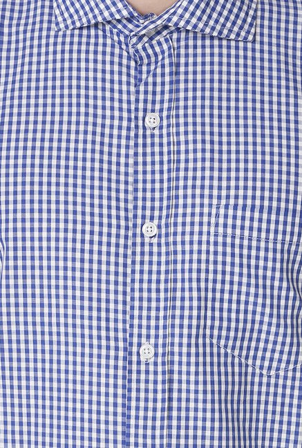 Yepme Blue Wilmar Premium Cotton Shirt