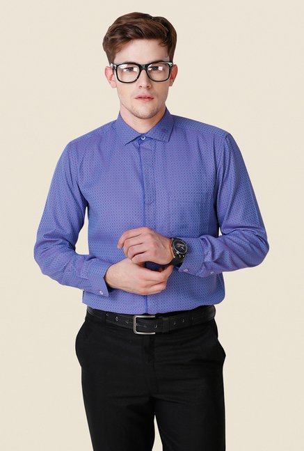 Yepme Blue Printed Scanton Premium Shirt