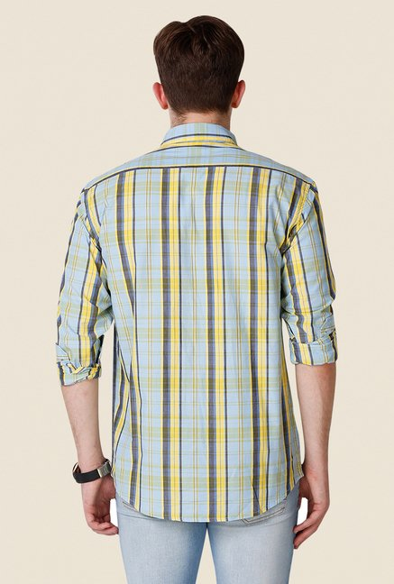 Yepme Light Blue Wilmar Premium Shirt