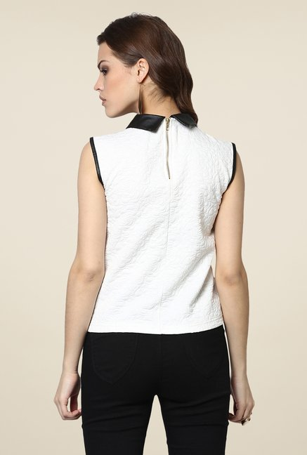 Yepme Scarlett White & Black Party Top