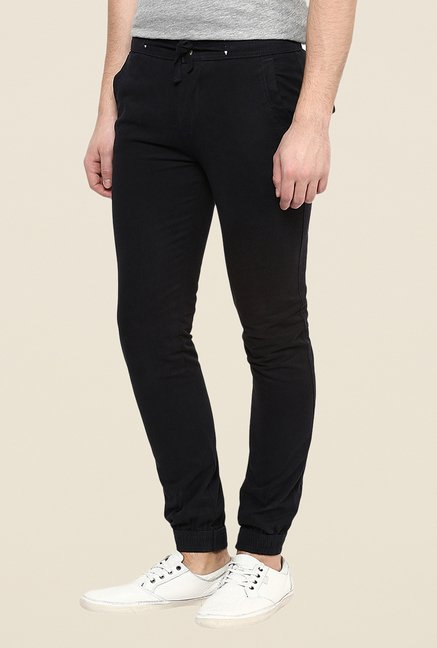 Yepme Black Frankie Solid Joggers