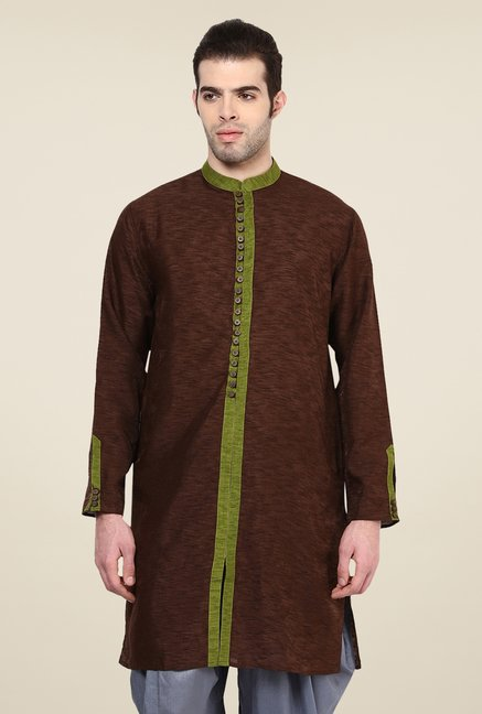 Yepme Brown Markus Solid Kurta