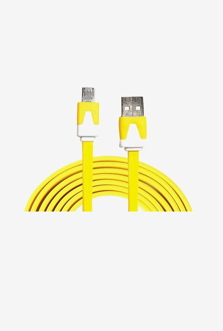 14You 1OTH009 Flat Micro USB Cable (Yellow)