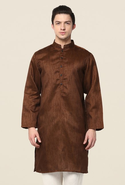 Yepme Brown Wesley Solid Kurta