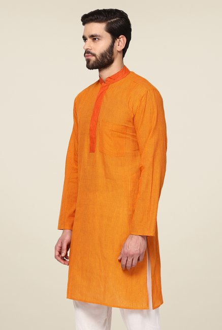 Yepme Orange Bruce Striped Kurta