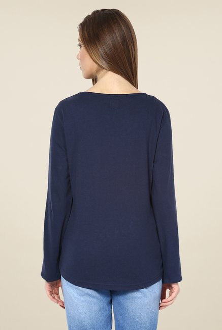 Yepme Rivera Navy Solid Top