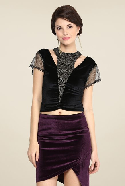 Yepme Carey Black Party Top