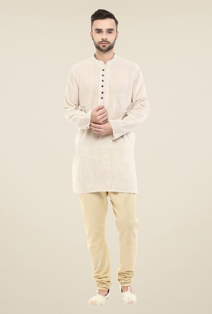 Yepme Beige Brad Striped Kurta