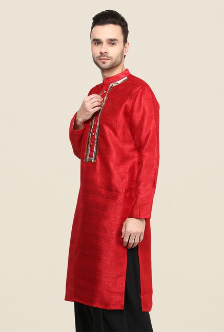 Yepme Red Jerome Solid Kurta