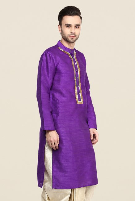 Yepme Purple Jerome Solid Kurta