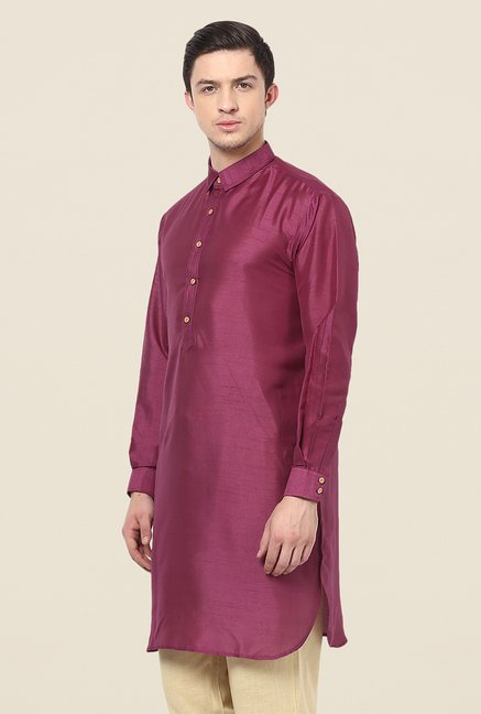 Yepme Purple Rubin Solid Kurta