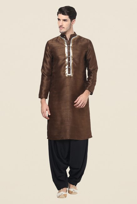 Yepme Brown Solid Kurta