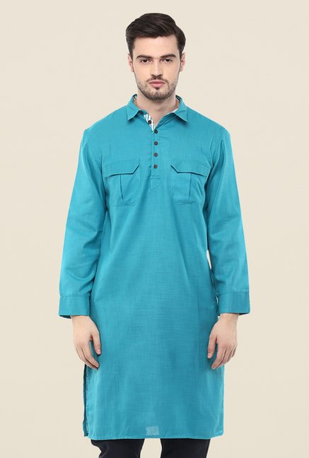 Yepme Teal Ashes Solid Kurta