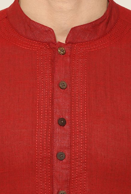 Yepme Red Chris Solid Kurta