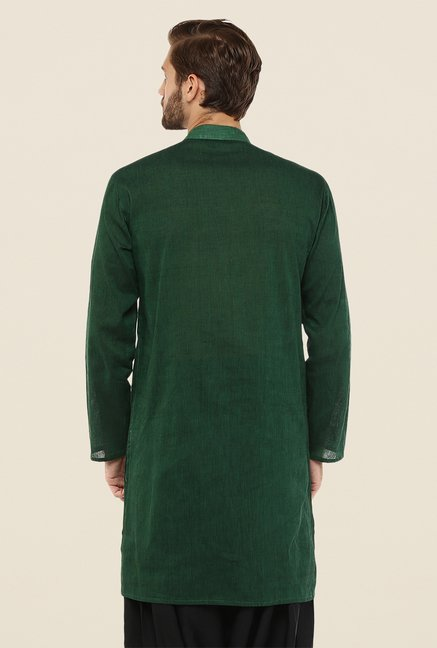 Yepme Dark Green Chris Solid Kurta