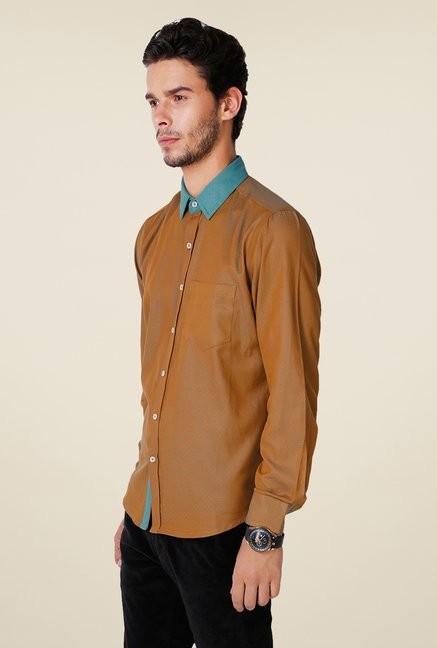 Yepme Brown Hanfred Premium Shirt
