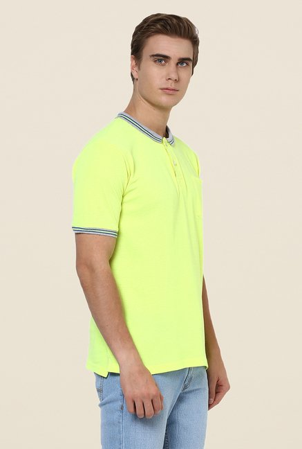 Yepme Green Dean Premium Solid Polo T Shirt
