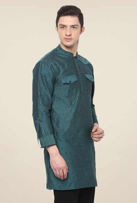 Yepme Green Alec Printed Cotton Kurta