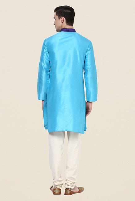 Yepme Blue Ryan Solid Kurta