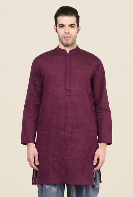 Yepme Purple Davor Solid Kurta