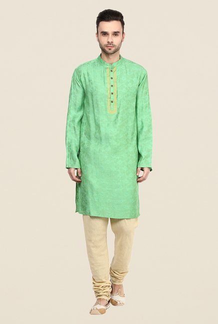 Yepme Green Willians Floral Print Kurta