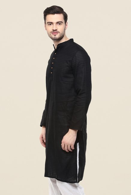 Yepme Black Andrew Checks Kurta