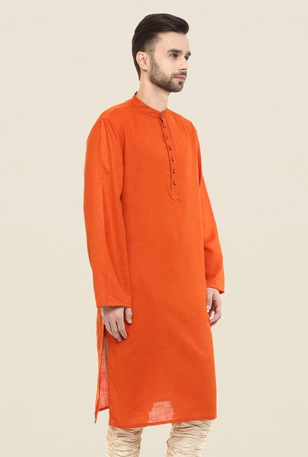 Yepme Orange Augustus Solid Kurta