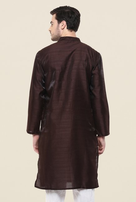 Yepme Brown Dellon Solid Kurta