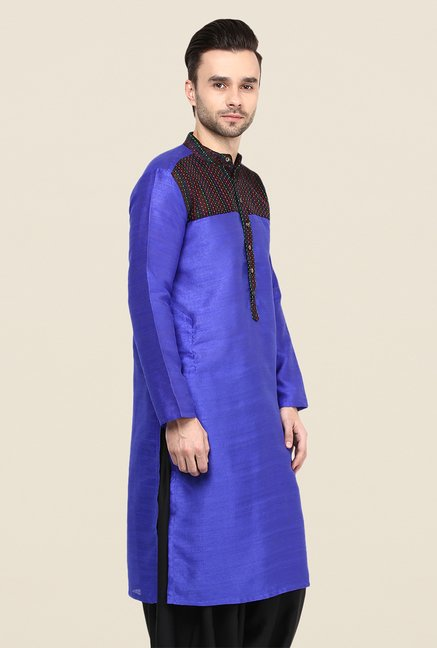 Yepme Blue Grayson Printed Cotton Kurta
