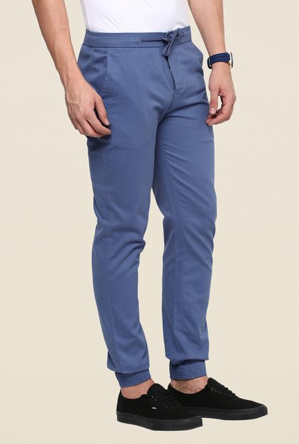Yepme Blue Solid Joggers