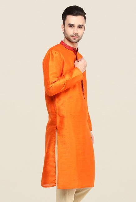 Yepme Orange Donald Solid Kurta