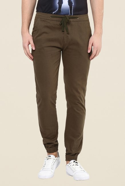 Yepme Brown Frankie Solid Joggers