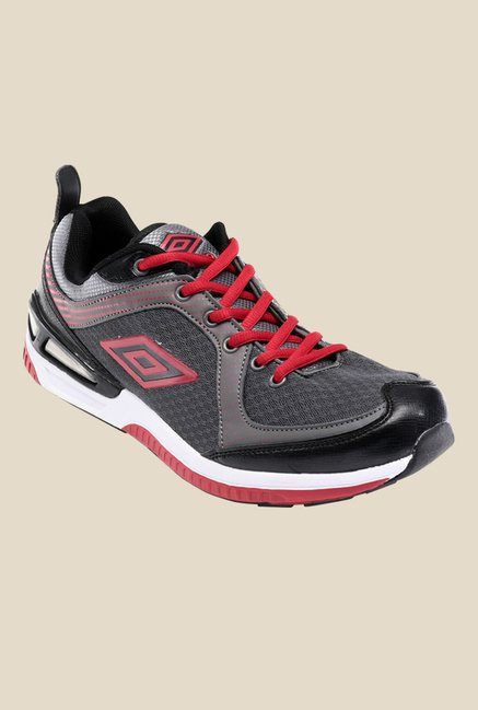 Umbro Kostroma Grey & Red Running Shoes