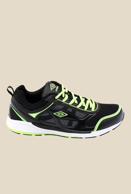 Umbro Dublin Black & Neon Green Running Shoes
