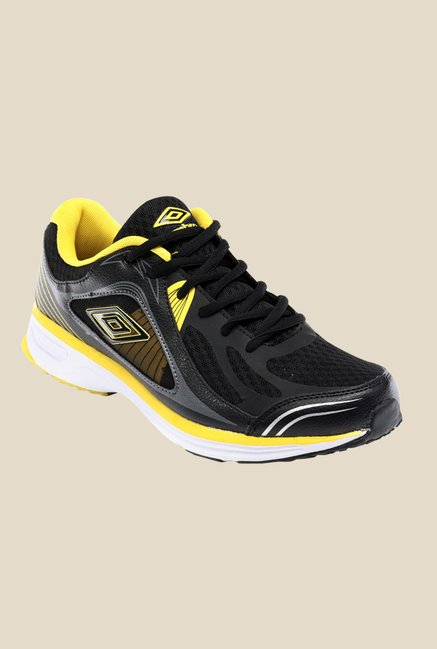 Umbro Odessa Black & Yellow Running Shoes