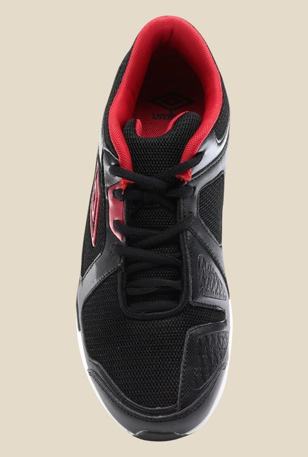 Umbro Oryal Black & Red Running Shoes