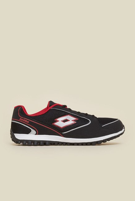 Lotto Black & Red Vapor Trainer Shoes