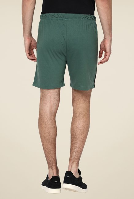 Yepme Ritter Green Solid Shorts