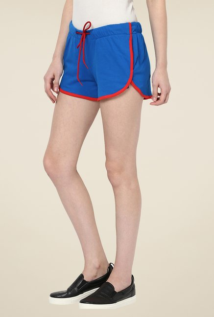 Yepme Benita Blue & Red Shorts