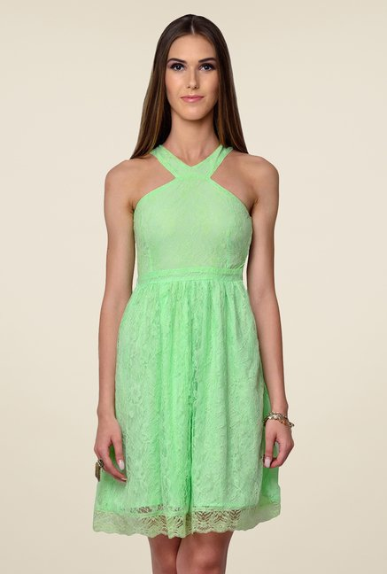 Yepme Green Kylie Lace Dress