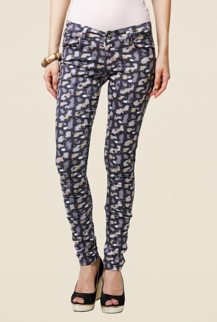 Yepme Estella Grey Printed Chinos