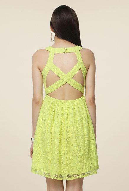 Yepme Green Eliza Lace Dress