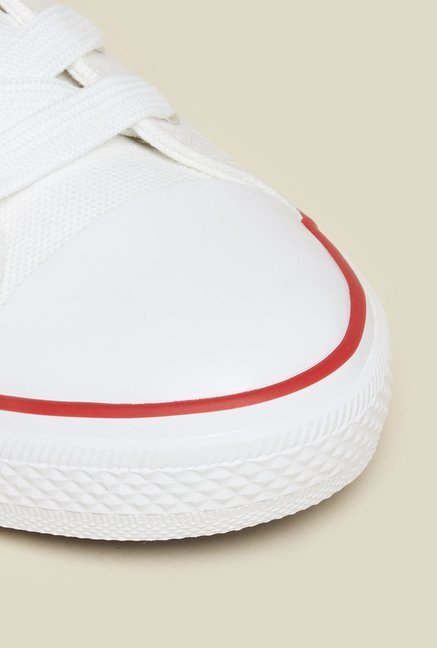 New Look White Lace Up Trainer Shoes