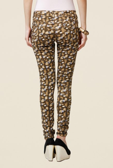 Yepme Estella Brown Printed Chinos
