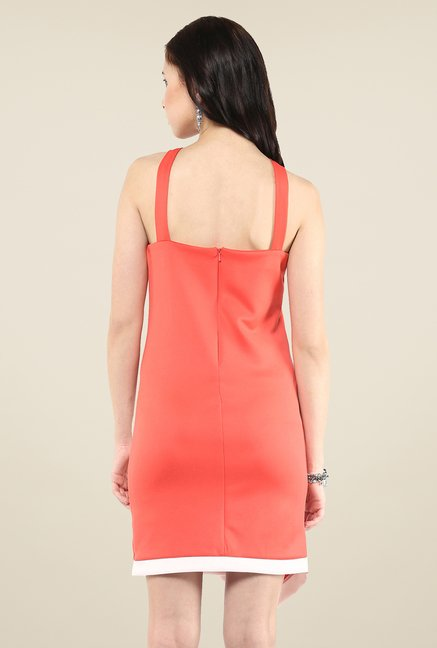 Yepme Coral Charlotte Solid Bodycon Dress