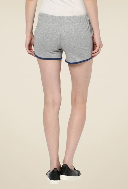 Yepme Benita Grey & Blue Shorts