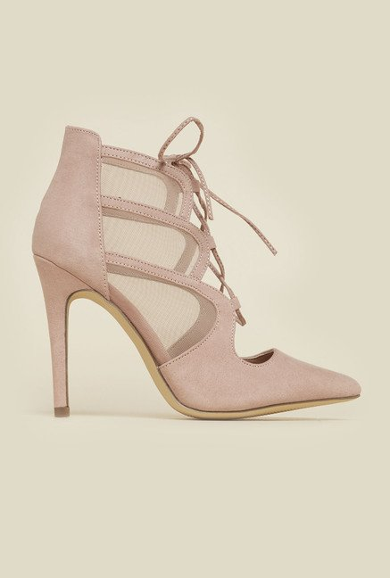 New Look Oatmeal Mesh Stilettos